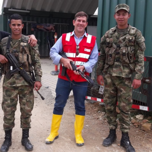 Mine Site Security Colombian Style - Yes, Real Machine Guns